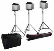 Kit LED BRESSER SH-1200 (3 lampade a LED e 3 stativo per lampade)