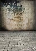 BRESSER BR-A0418 Fondale in Tessuto con Motivo 3,0x3,0m