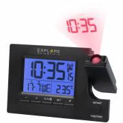 Sveglia radiocontrollata EXPLORE SCIENTIFIC con 2 fusi orari e orari della sveglia