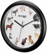 Orologio da parete BRESSER Junior con i versi degli animali
