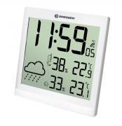 Orologio da parete meteorologico BRESSER TemeoTrend JC LCD bianco