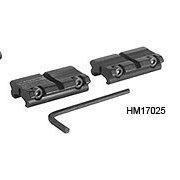 Hawke 2pc Adaptor Weaver to 11mm Supporto Mirino