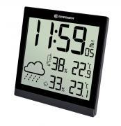 Orologio da parete meteorologico BRESSER TemeoTrend JC LCD nero