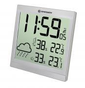 Orologio da parete meteorologico BRESSER TemeoTrend JC LCD argento