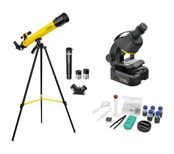 Set Telescopio + Microscopio NATIONAL GEOGRAPHIC per Principianti