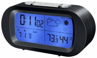 BRESSER MyTime Temeo Sveglia digitale con indicazione meteo/temperatura - bianco