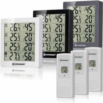 BRESSER Temeo Hygro Quadro Termoigrometro con 4 misurazioni indipendenti