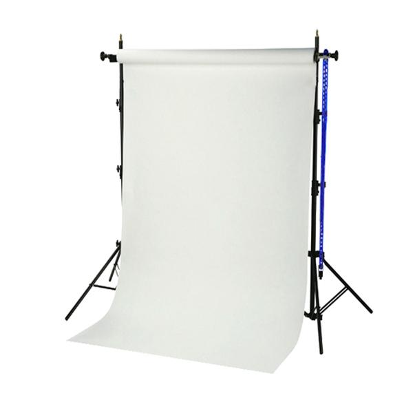 Sistema portafondali BRESSER BR-TP240 Altezza 240cm + Fondale bianco artico in Carta 1,35x11m