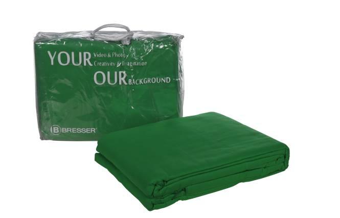 Fondale in Tessuto BRESSER Y-9 chroma key verde 3x6m