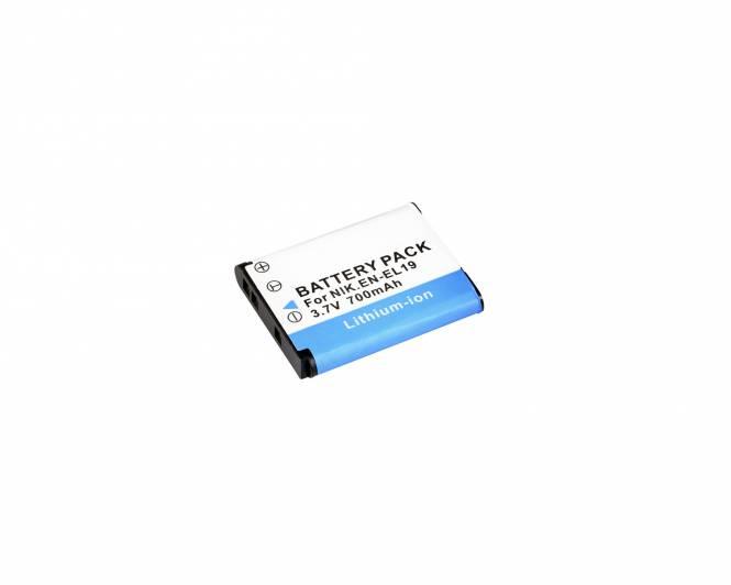 BRESSER Batteria ricaricabile agli ioni di litio / Batteria sostitutiva per Nikon EN-EL19