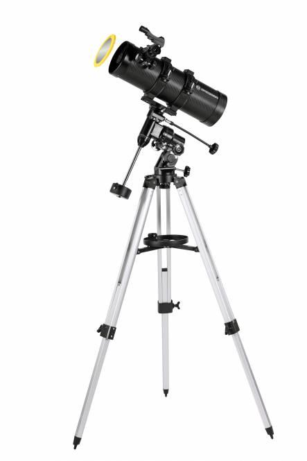 BRESSER Telescopio Pluto 114/500 EQ con adattatore per smartphone